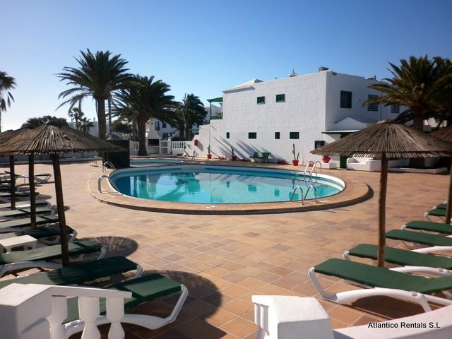 Communal Pool - Playa Park Apartment, Puerto del Carmen, Lanzarote