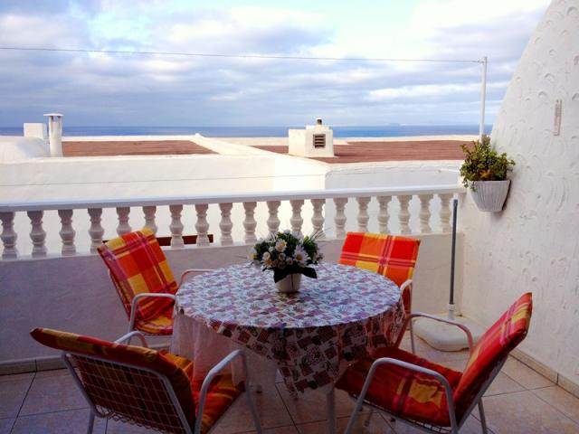 Seaview from the terrace - Lovely Seaview Apartment , Puerto del Carmen, Lanzarote