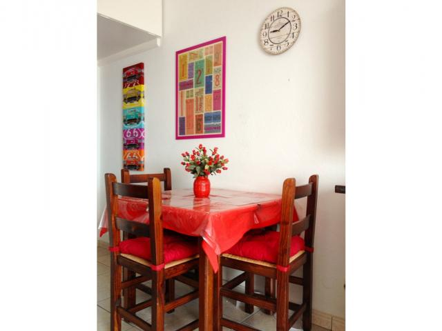 Dining table inside the apartment - Lovely Seaview Apartment , Puerto del Carmen, Lanzarote