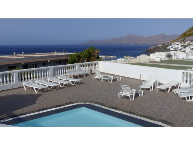 View of Fuerteventura from the solarium - Nice Seaview Apartment, Puerto del Carmen, Lanzarote