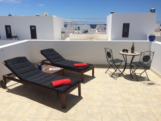 Front top terrace, sea/mountain views - Casa Koru, Puerto Calero, Lanzarote