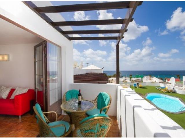 Balcony area - Columbus 5A, Puerto del Carmen, Lanzarote