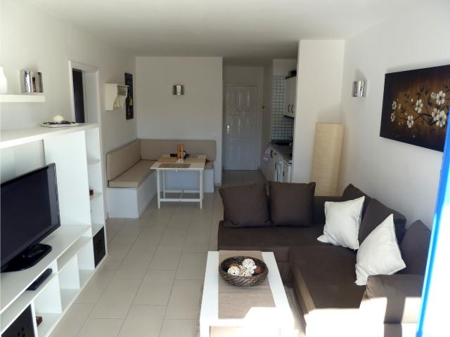 Open plan lounge, diner, kitchen - Atalaya Apartments, Puerto del Carmen, Lanzarote