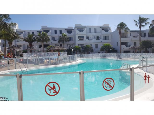 A lovely spacious 1 bedroom apartment on a quiet complex in puerto del carmen. Lanzarote.Comprises of open plan, living, kitchen diner Good size bathroom  X1 double bedroom  A double sofa bed Patio