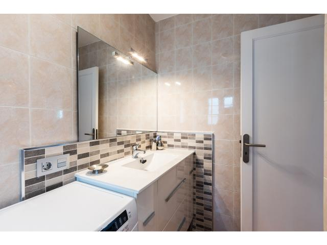 Bathroom and washing machine - Green apartment, Puerto del Carmen, Lanzarote