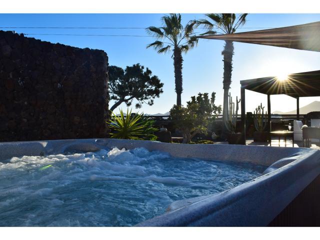 Jacuzzi at Sunset - Villa Kura, Puerto del Carmen, Lanzarote